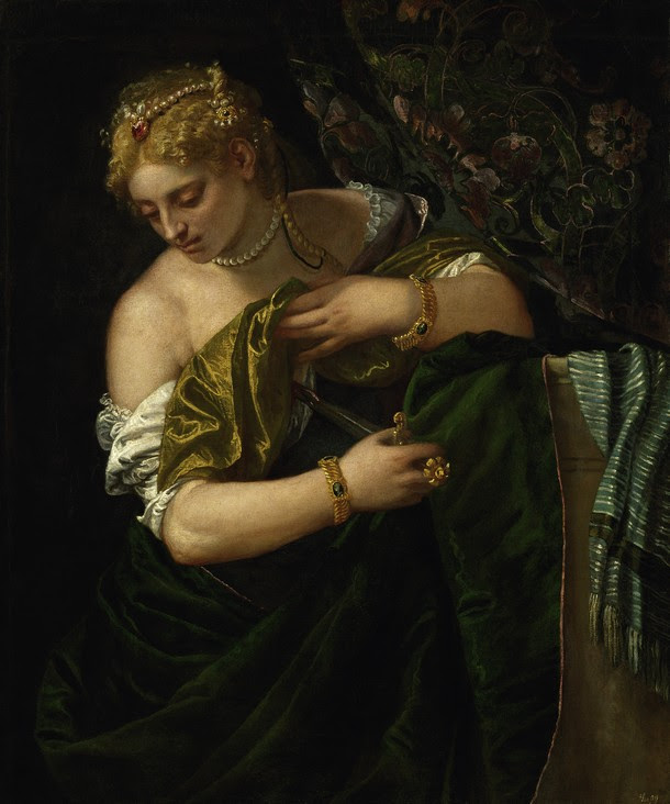 Paolo Caliari (Il Veronese). Lucrecia, 1580-1583. Oleo sobre lienzo