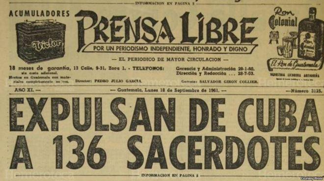 expulsion de curas catolicos cuba