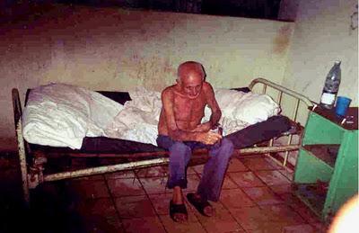 Paciente cubano en una facilidad hospitalaria