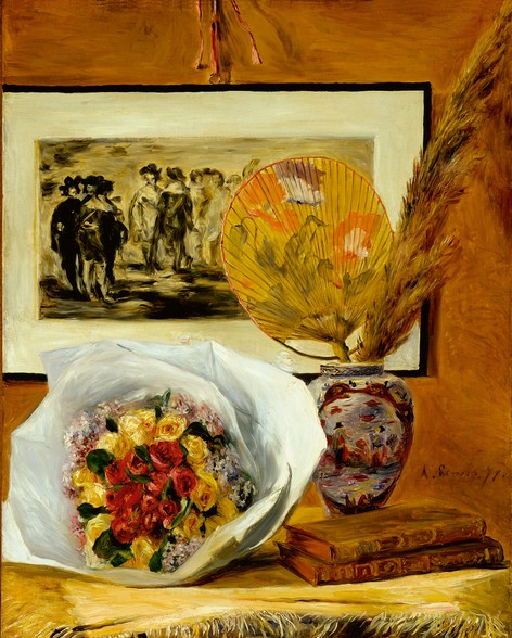 Still Life with Bouquet, 1871 (oil on canvas)