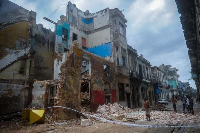 derrumbes en La Habana